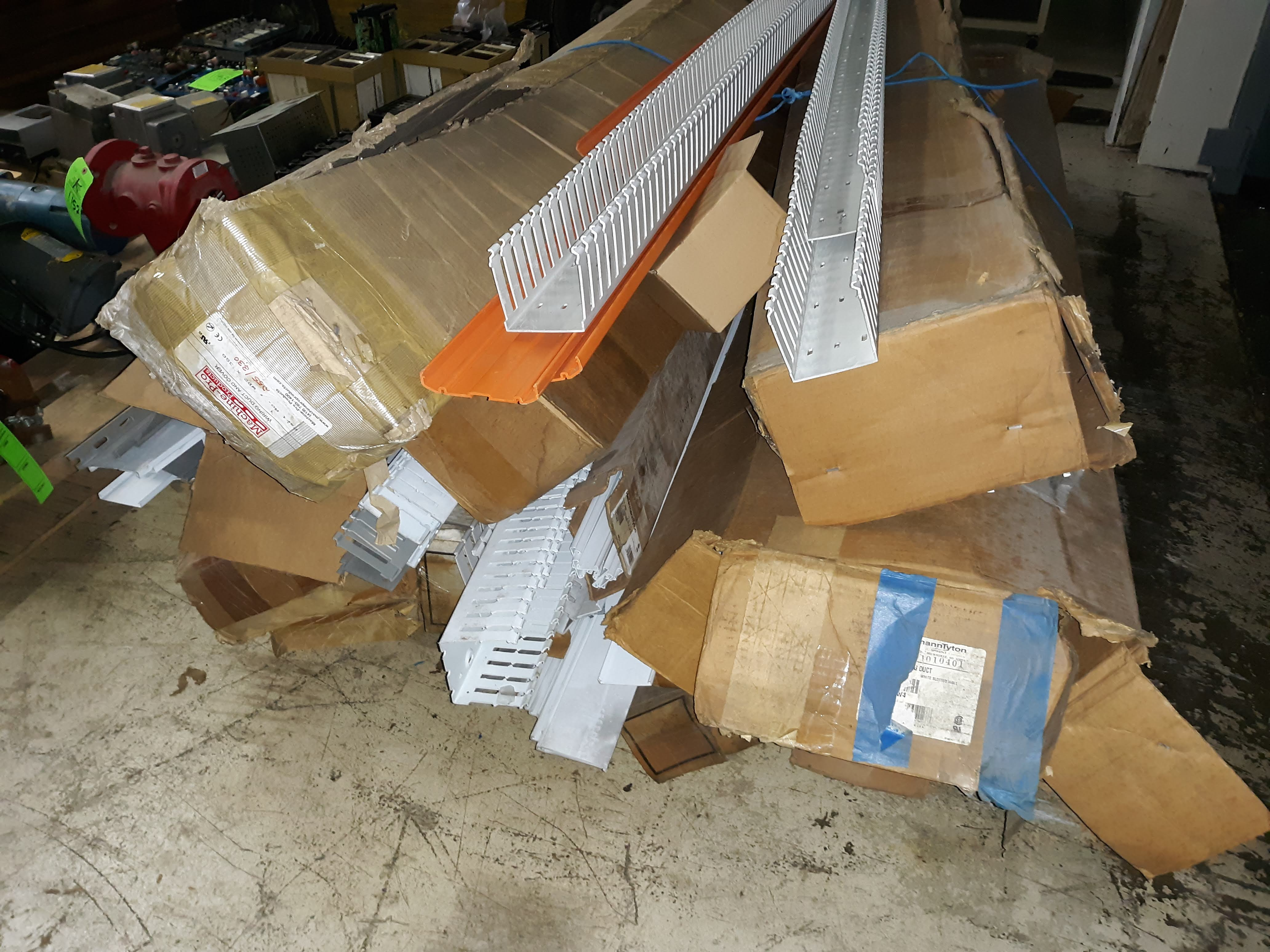 Lot 1151 - SKID OF DIFFERENT TYPES OF PLASTIC WIRING DUCTS (LOCATED AT: 432 COUNCIL DRIVE, FORT WAYNE, IN