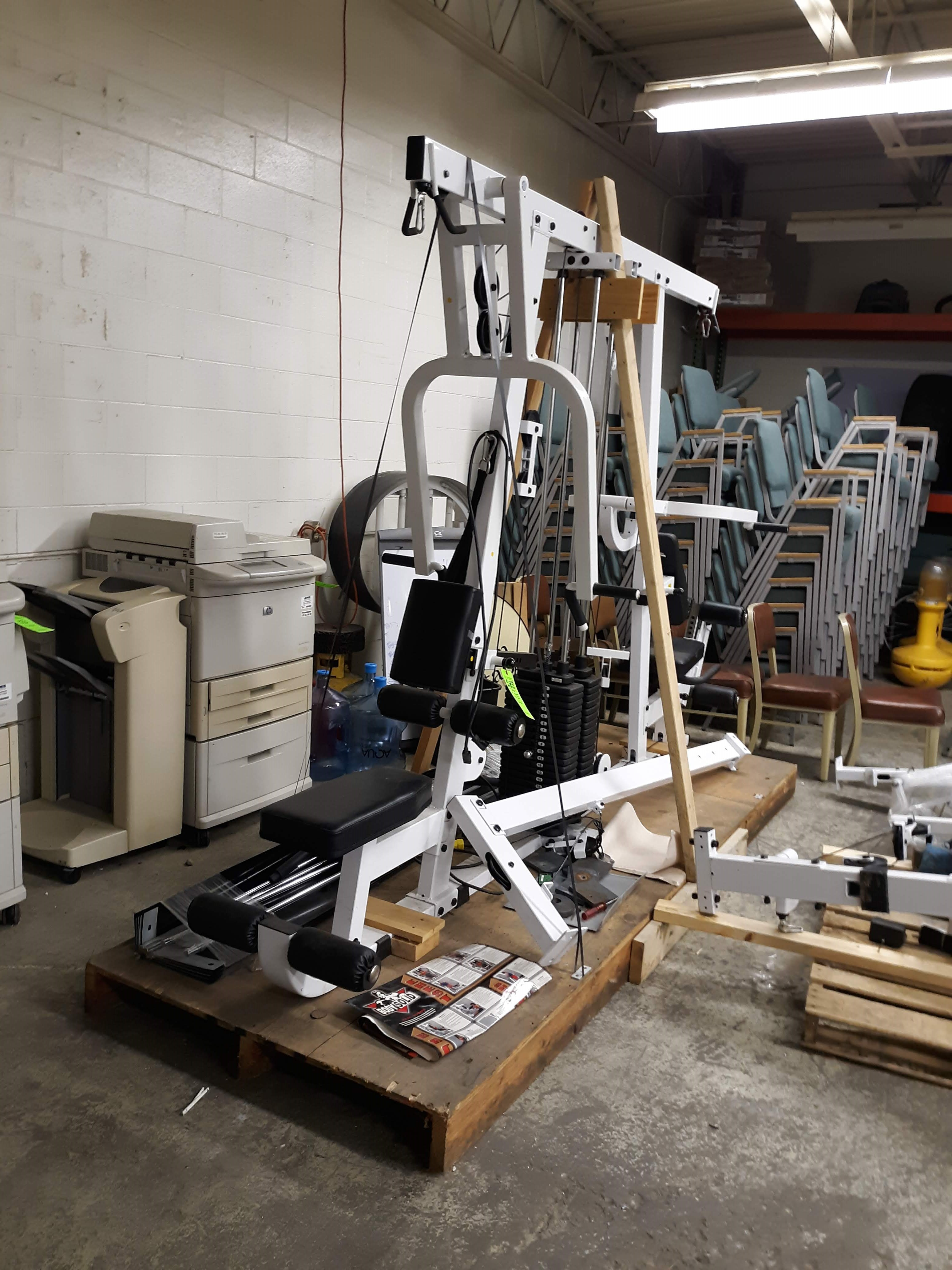 BODY SOLID EXM4000S ULTIMAT TRIPLE STACK HOME GYM PACKAGE (AS PICTURED)(LOCATED AT: 433 COUNCIL - Image 2 of 9
