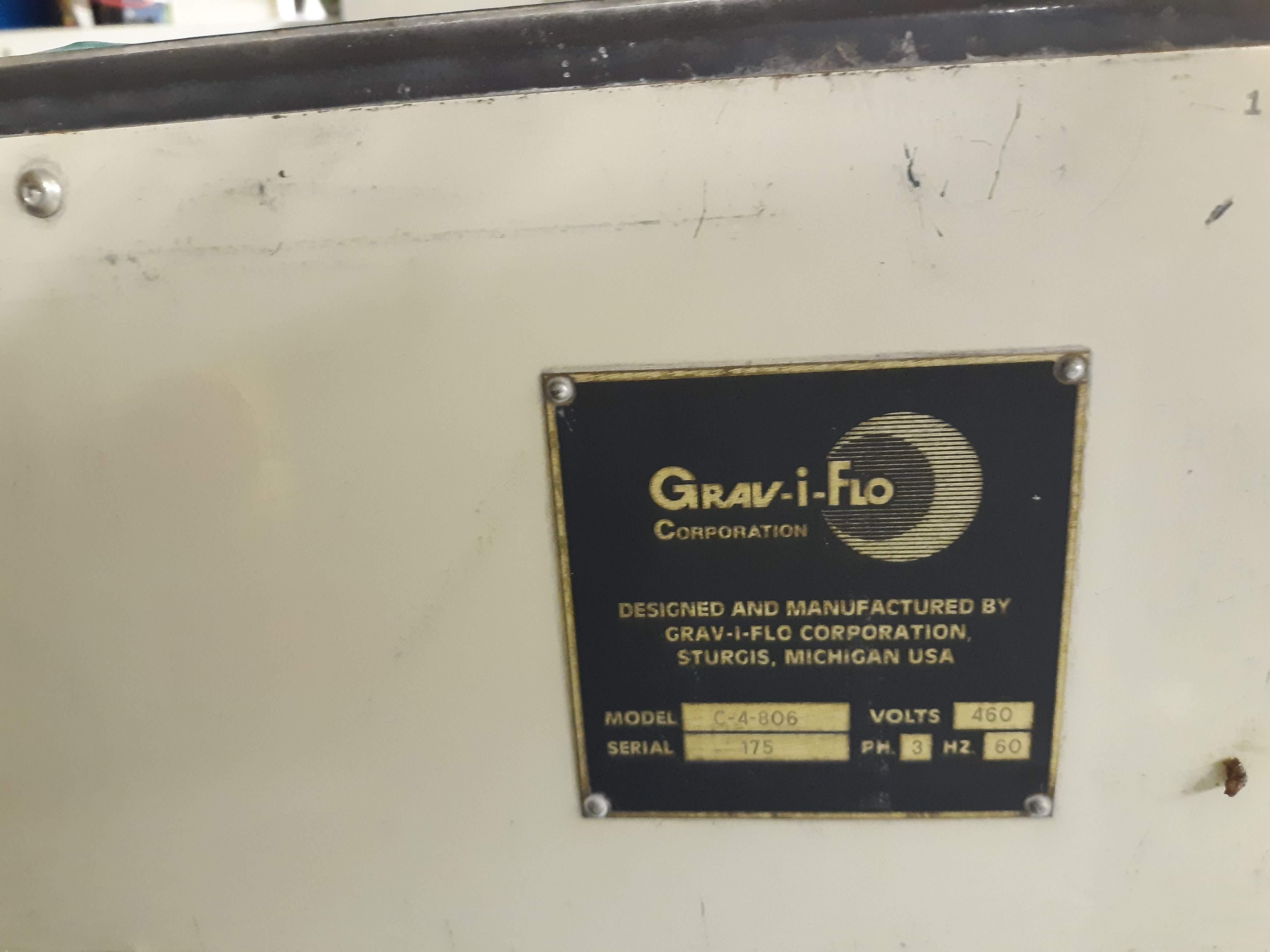GRAV-I-FLO CENTRIFUGAL BARREL FINISHING MACHINE MODEL-C-4-806 S#175 460V/3PH/60HZ (LOCATED AT: 433 - Image 3 of 4