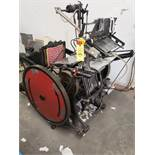 KLUGE AUTOMATIC PLATEN LETTER PRESS MACHINE# NB1211665 (LOCATED AT: 16335 LIMA ROAD BLDG. 4