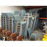 (10) CHURCH CHAIR INDUSTRIES FABRIC PADDED STEEL FRAME CHAIRS(LOCATED AT: 433 COUNCIL DRIVE, FORT