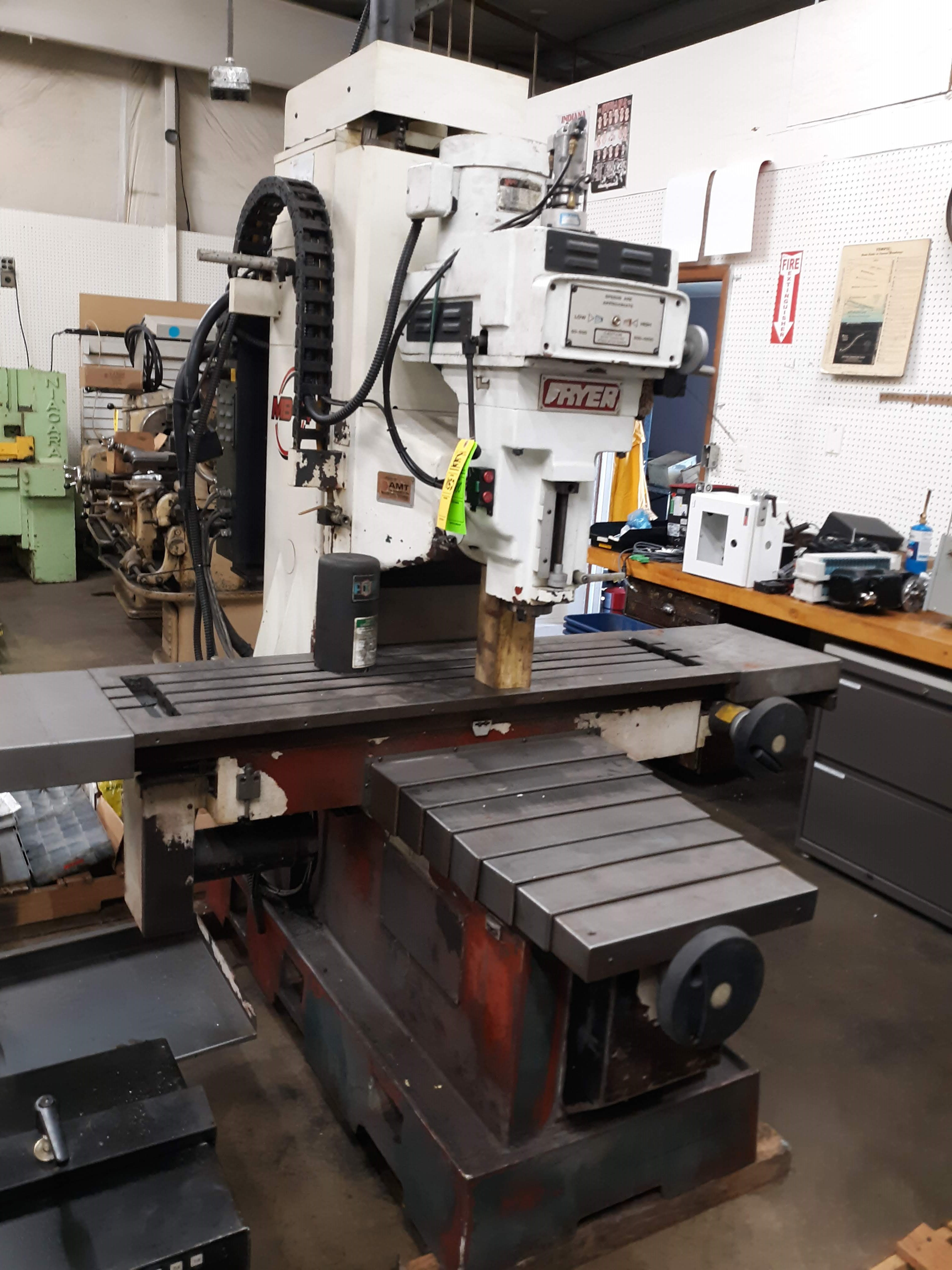 FRYER CNC MILLING MACHINE MODEL-MB-14 S#14247 54 X 16 TABLE ANILAM 3300 MK DRO (LOCATED AT: 432 - Image 3 of 8