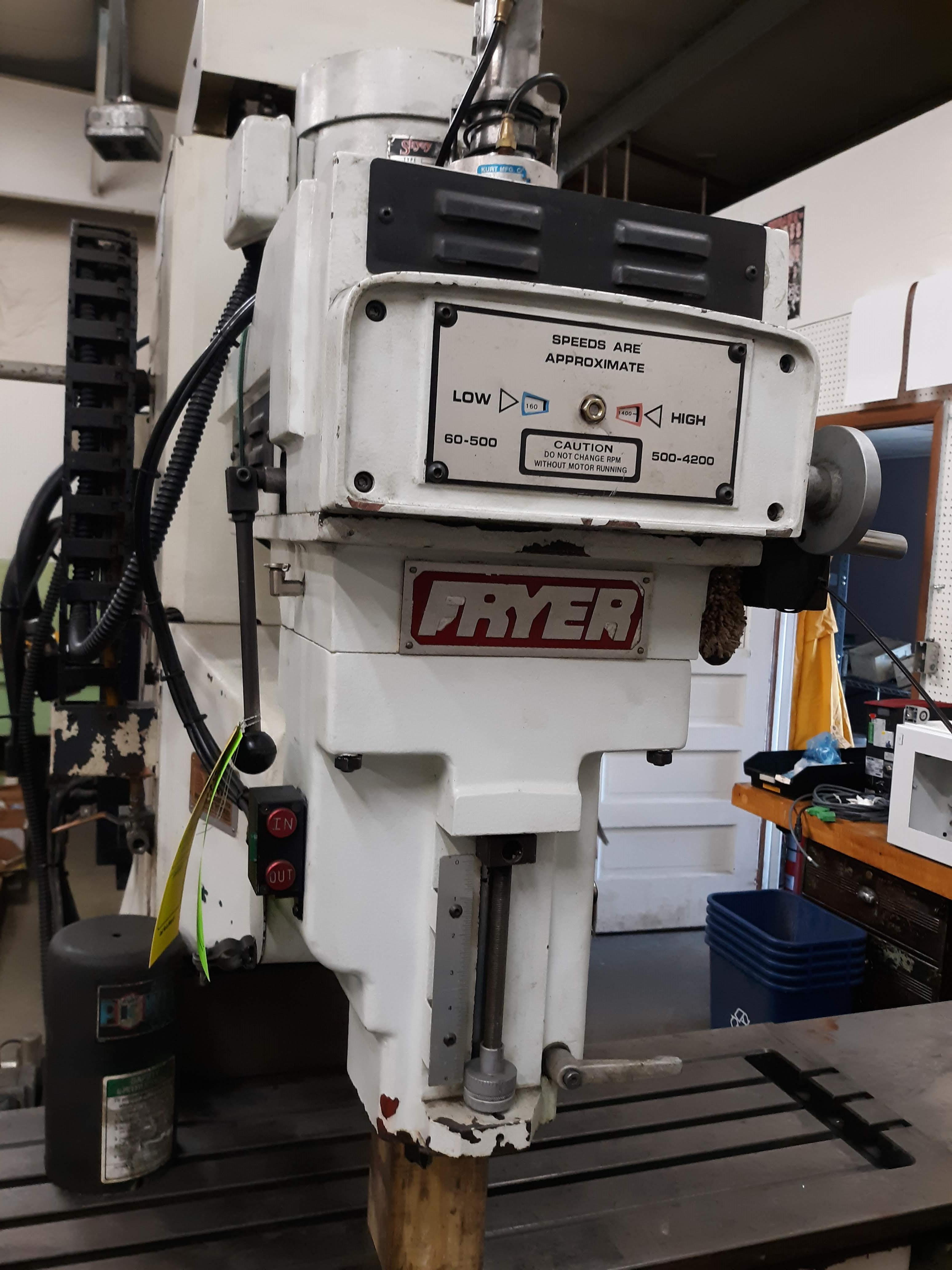 FRYER CNC MILLING MACHINE MODEL-MB-14 S#14247 54 X 16 TABLE ANILAM 3300 MK DRO (LOCATED AT: 432 - Image 8 of 8