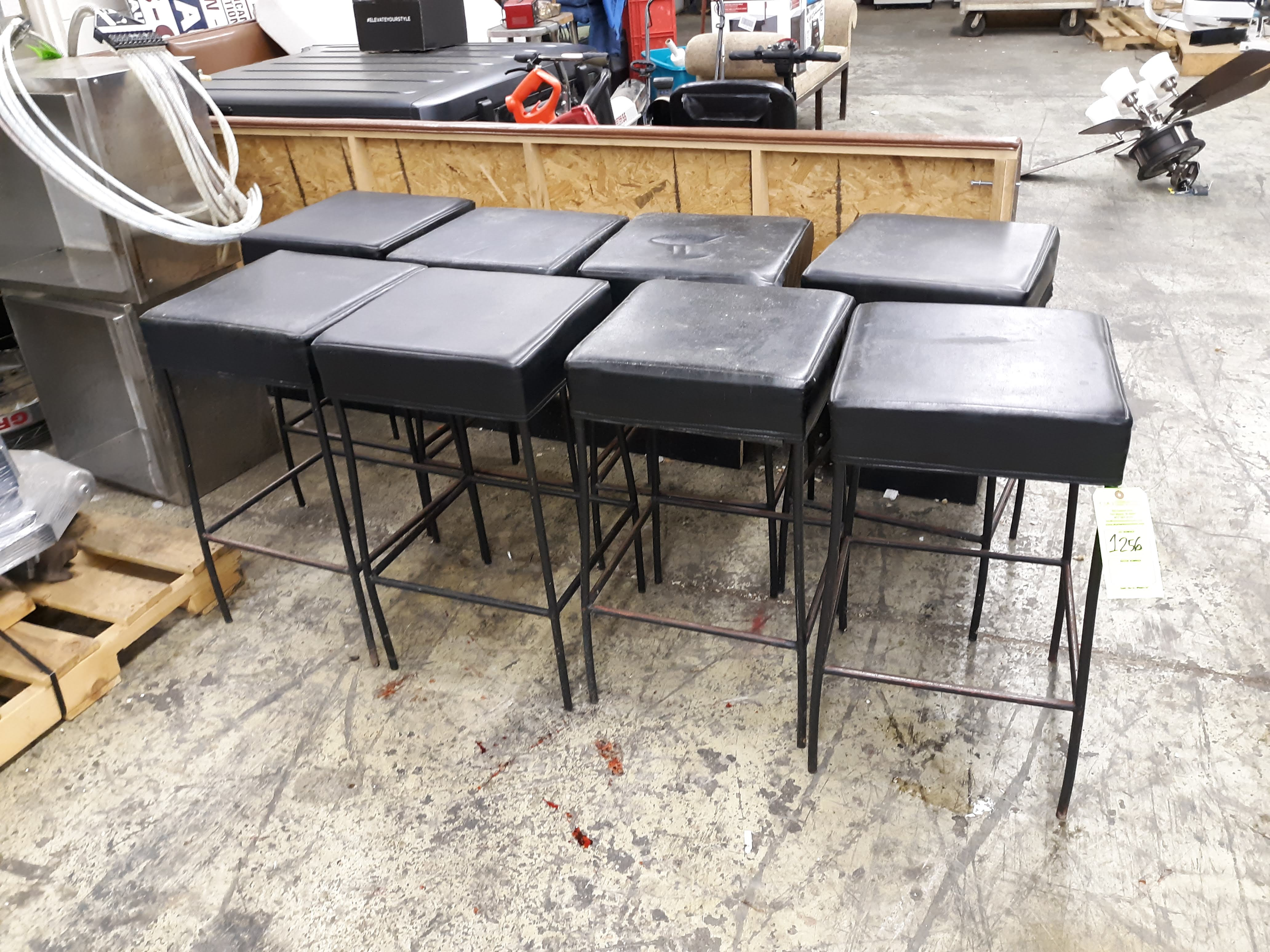 """(8) SQUARE PADDED BAR STOOLS 16"""" X 16"""" X 30"""" TALL (LOCATED AT: 433 COUNCIL DRIVE, FORT WAYNE, IN"""