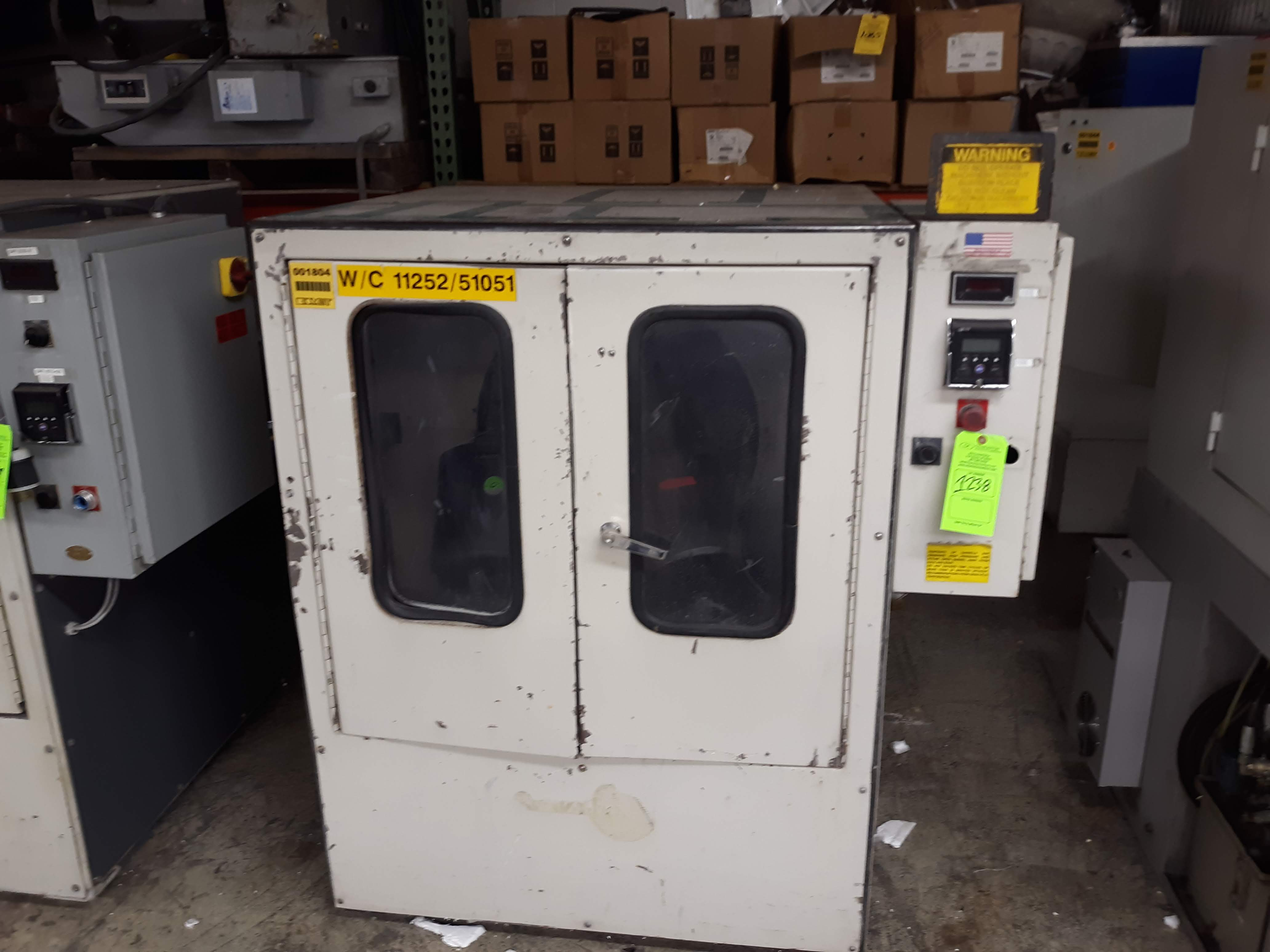GRAV-I-FLO CENTRIFUGAL BARREL FINISHING MACHINE MODEL-C-4-806 S#175 460V/3PH/60HZ (LOCATED AT: 433
