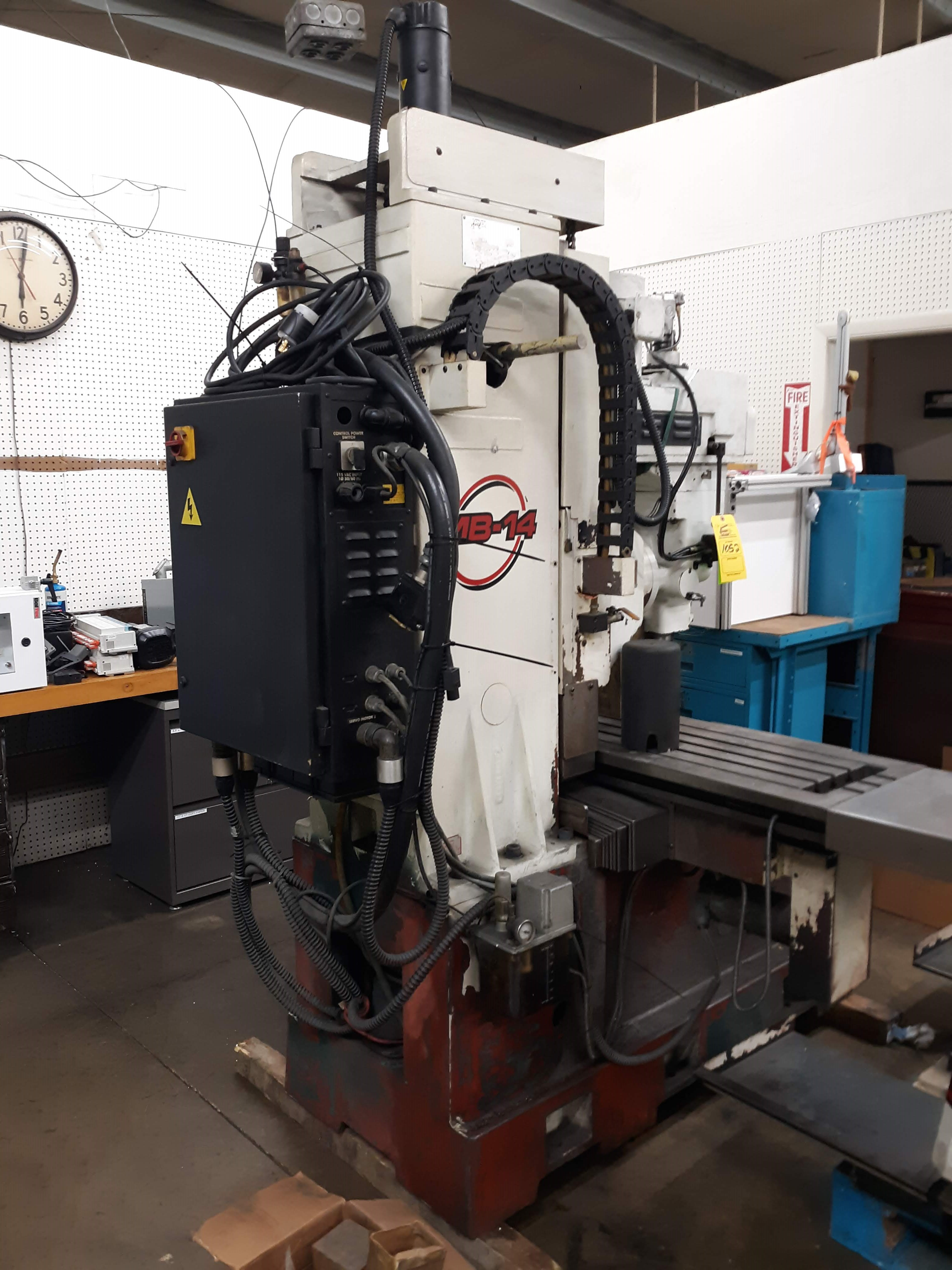 FRYER CNC MILLING MACHINE MODEL-MB-14 S#14247 54 X 16 TABLE ANILAM 3300 MK DRO (LOCATED AT: 432 - Image 6 of 8