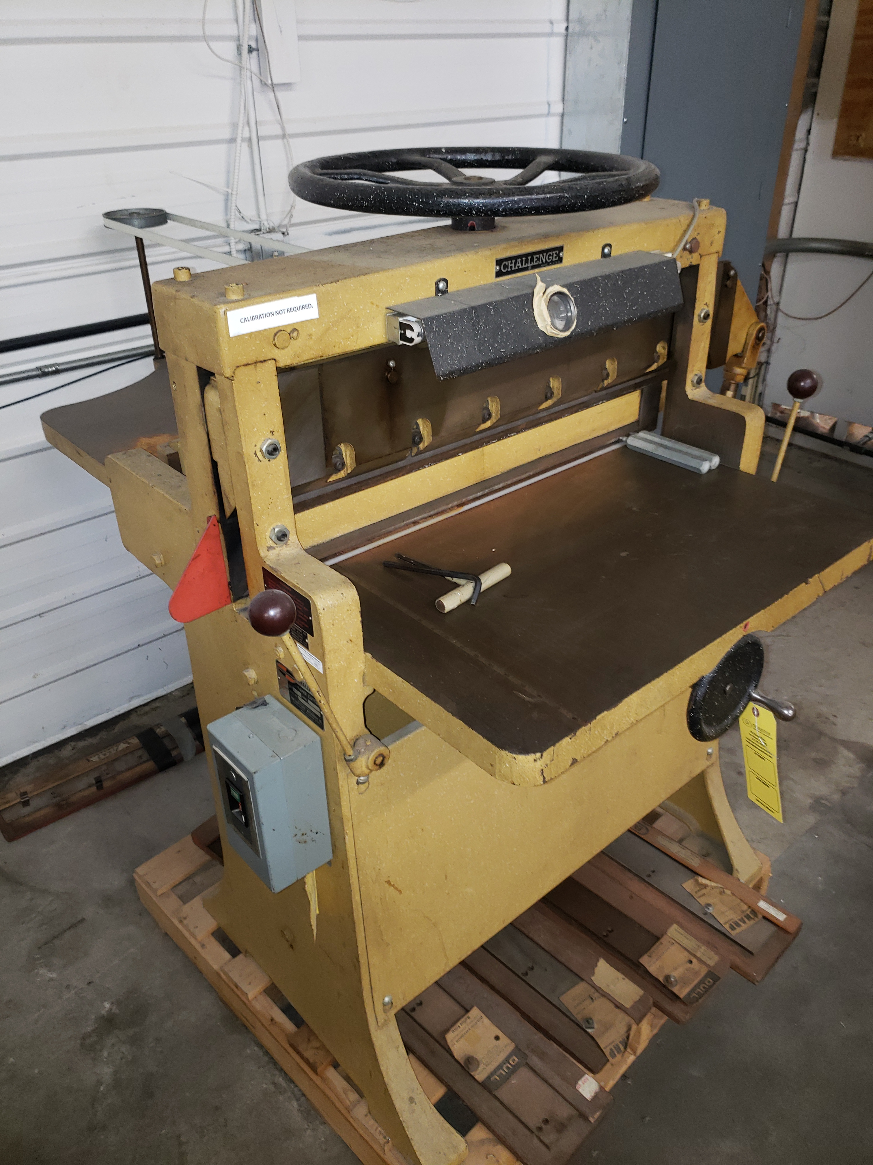 Lot 5043 - CHALLENGE PAPER CUTTER MODEL-HA S#15908 SIZE:305 (LOCATED AT: 16335 LIMA ROAD BLDG. 4 HUNTERTOWN, IN
