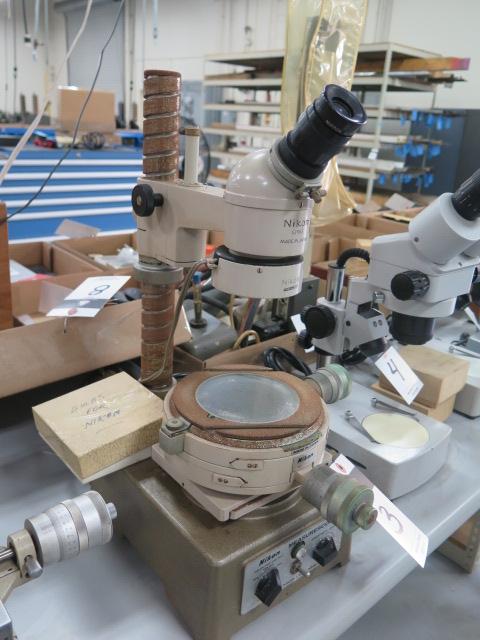 Lot 3 - Nikon Tool Makers Microscope w/ Light Source