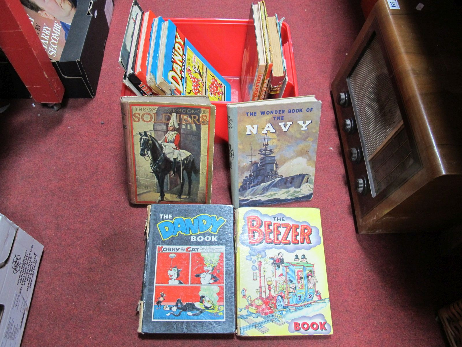 Lot 477 - A Quantity of 1960's and Later Dandy, 1950's Adventure Annual and other Annuals.