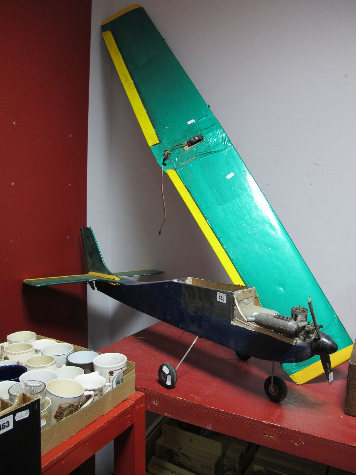 Lot 485 - A Scratch Built Wooden Construction Mono Plane, fitted with a Magnum GP IC Engine, Sanwa FM