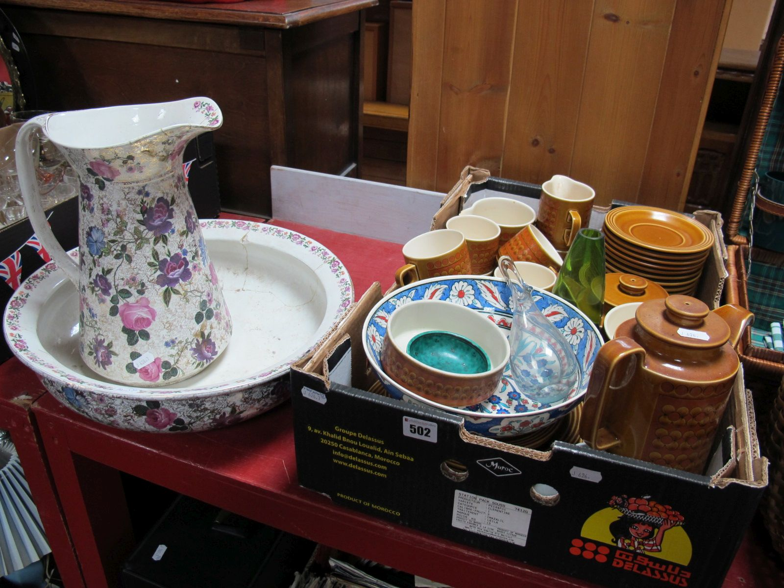 Lot 502 - A Quantity of Hornsea 'Saffron' Tea and Dinner Wares, (approximately fifty pieces), a Holmgaard