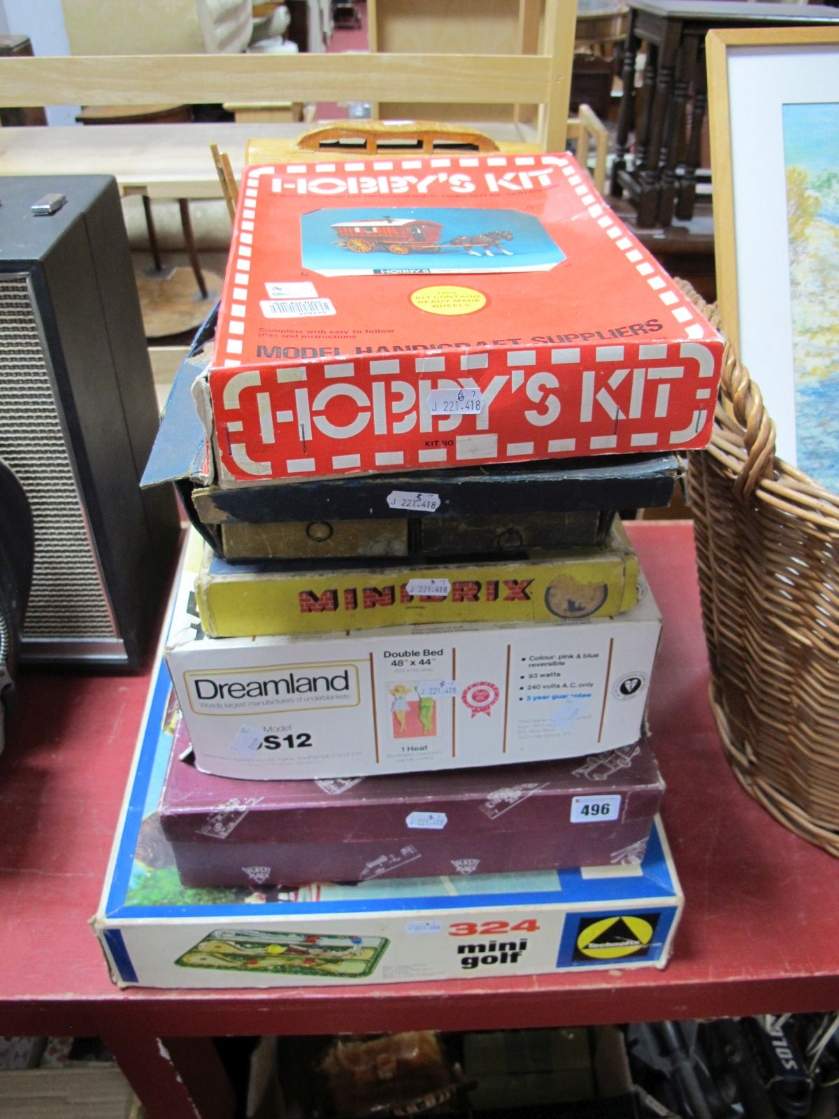 Lot 496 - Five Boxed Children's Games and Construction Sets, including Technofix sets, including Technofix
