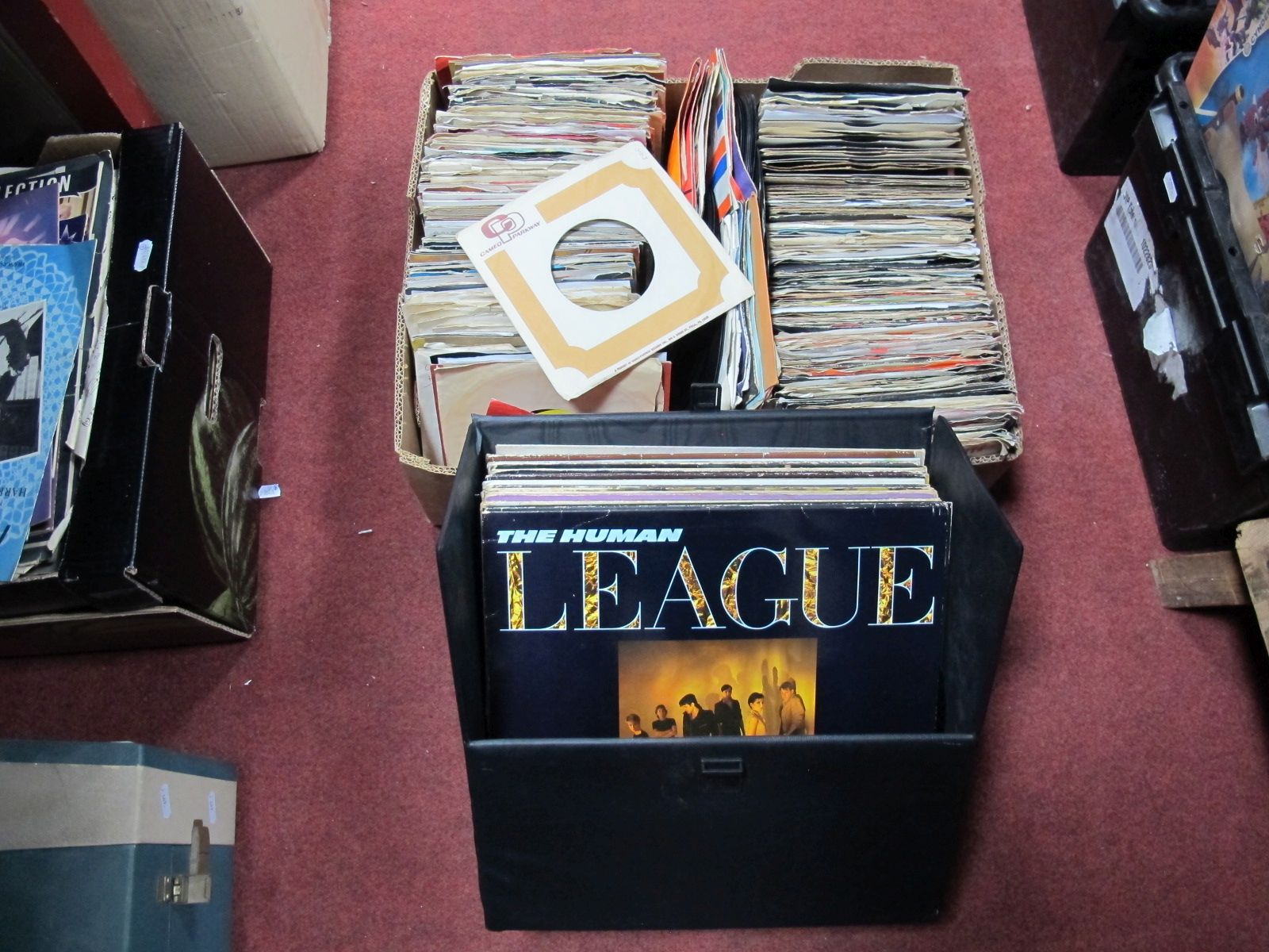 """Lot 508 - A Quantity of 7"""" Singles, 1960's and later, and a case of LP's. (2)"""