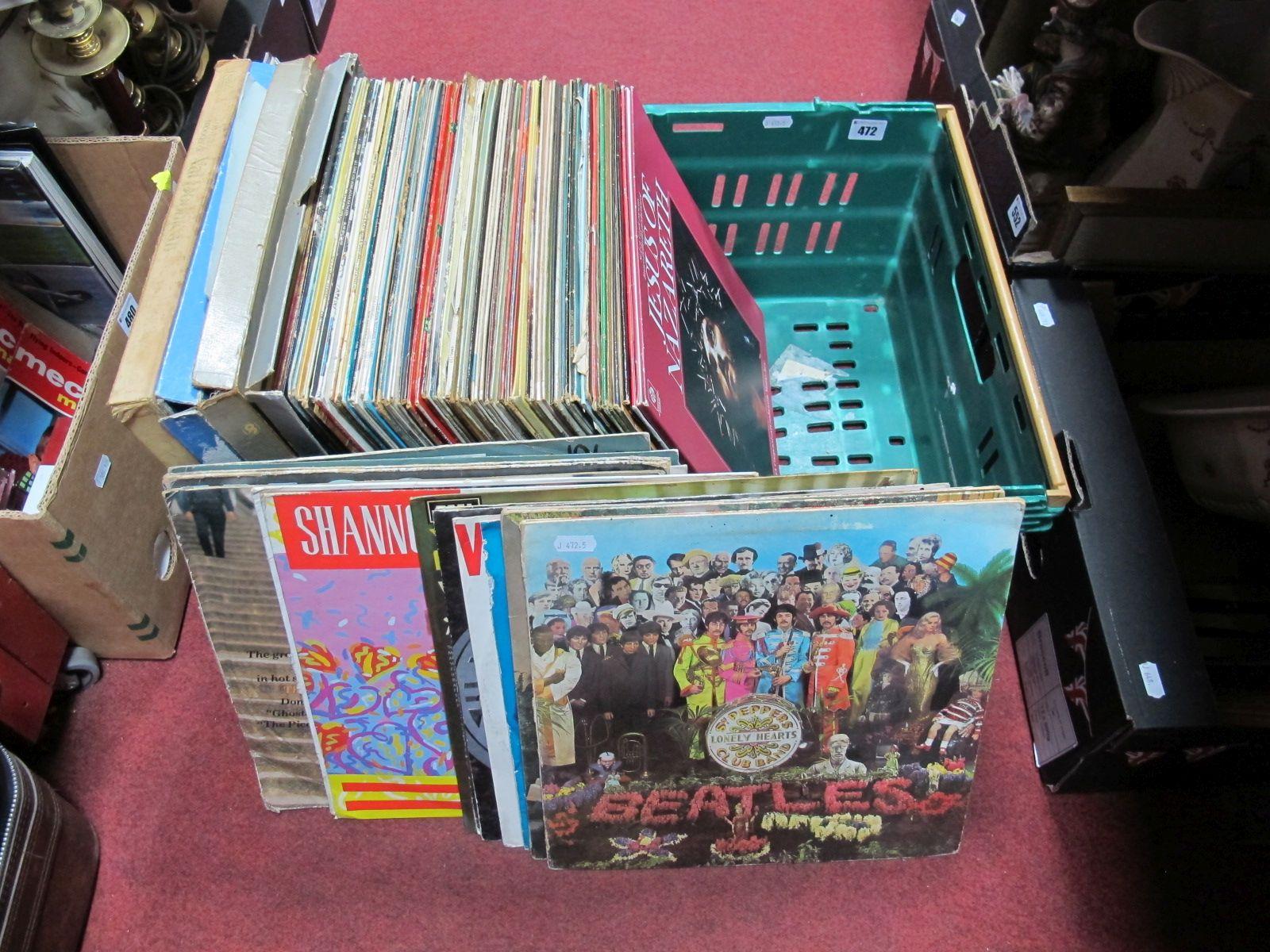 Lot 472 - LP's to include Beatles, 10CC, Wanda Jackson, Neil Diamond, etc:- One Box