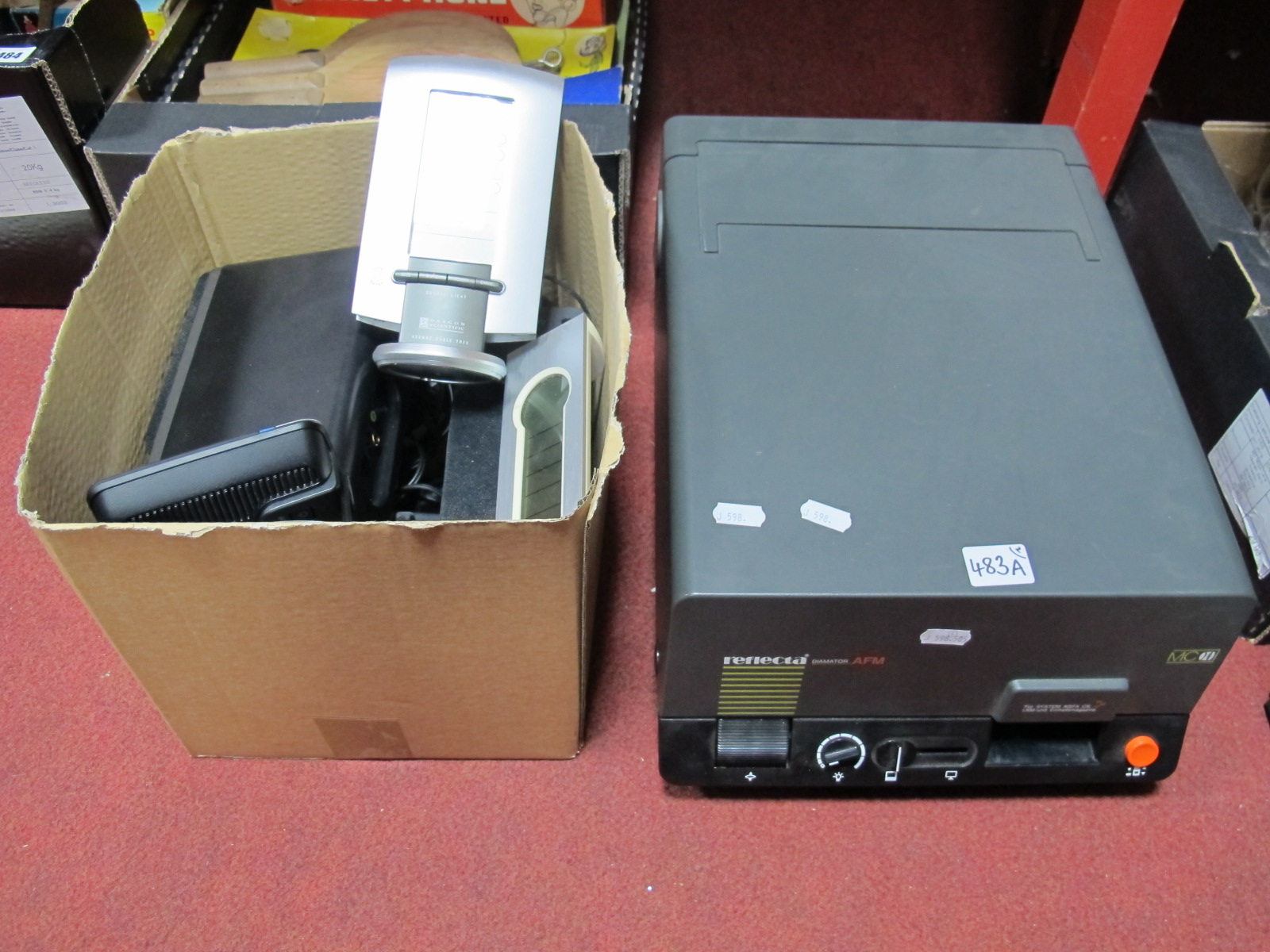 Lot 483A - Reflector Diamator AFM, 'Creative' Speakers, wireless weather station, etc. (untested - for parts