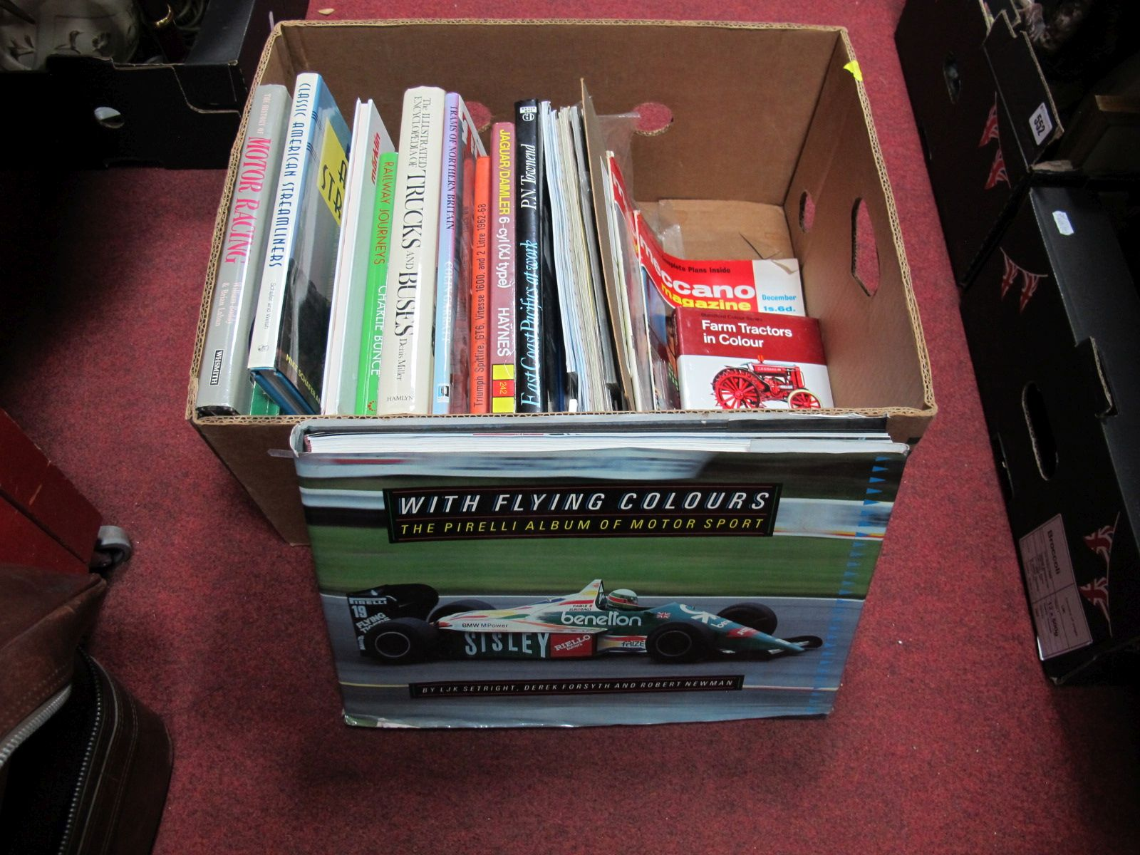 Lot 480 - A Box of Books, mainly transport related.
