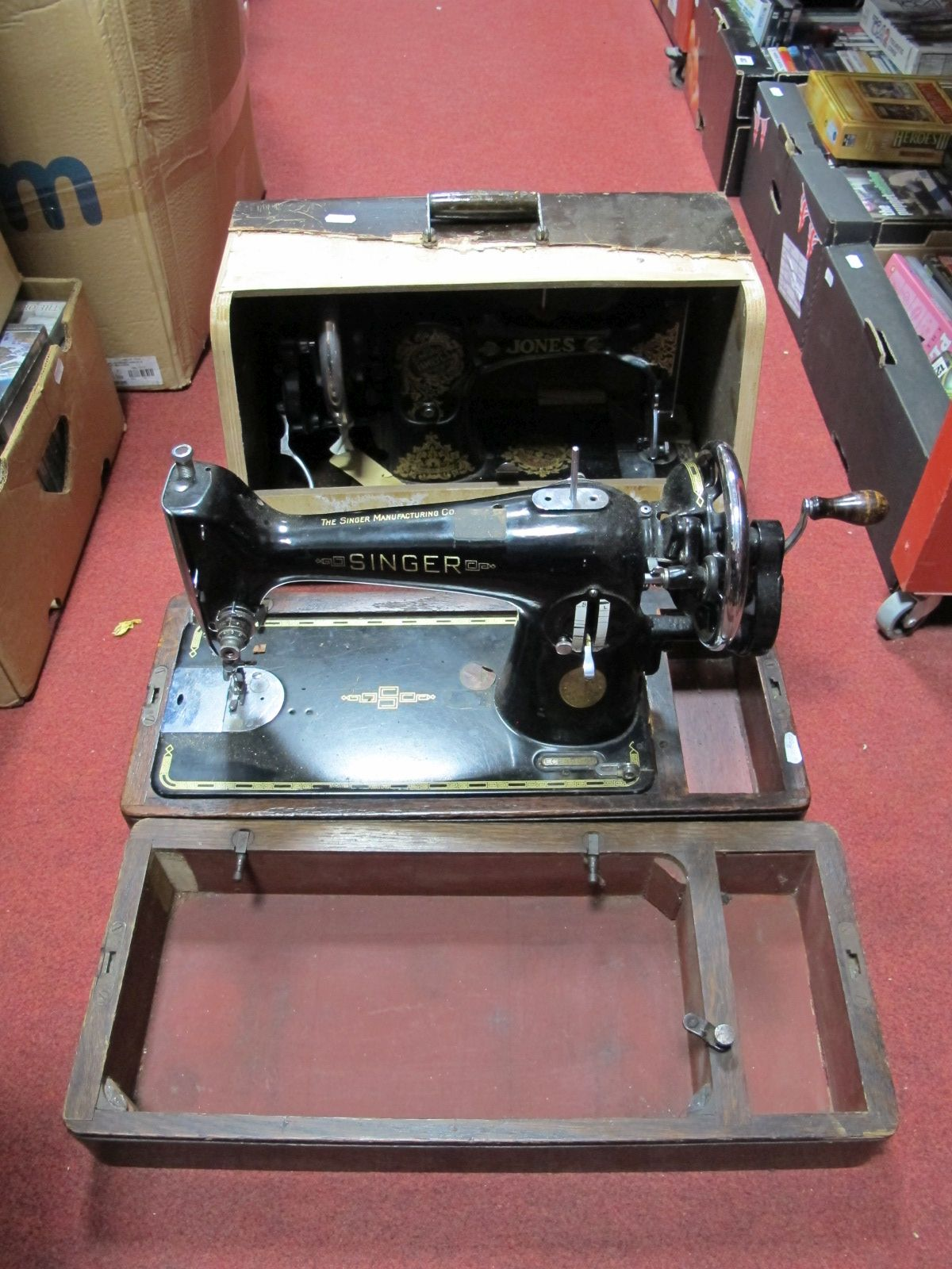 Lot 464 - Two Singer and Jones Sewing Machines.