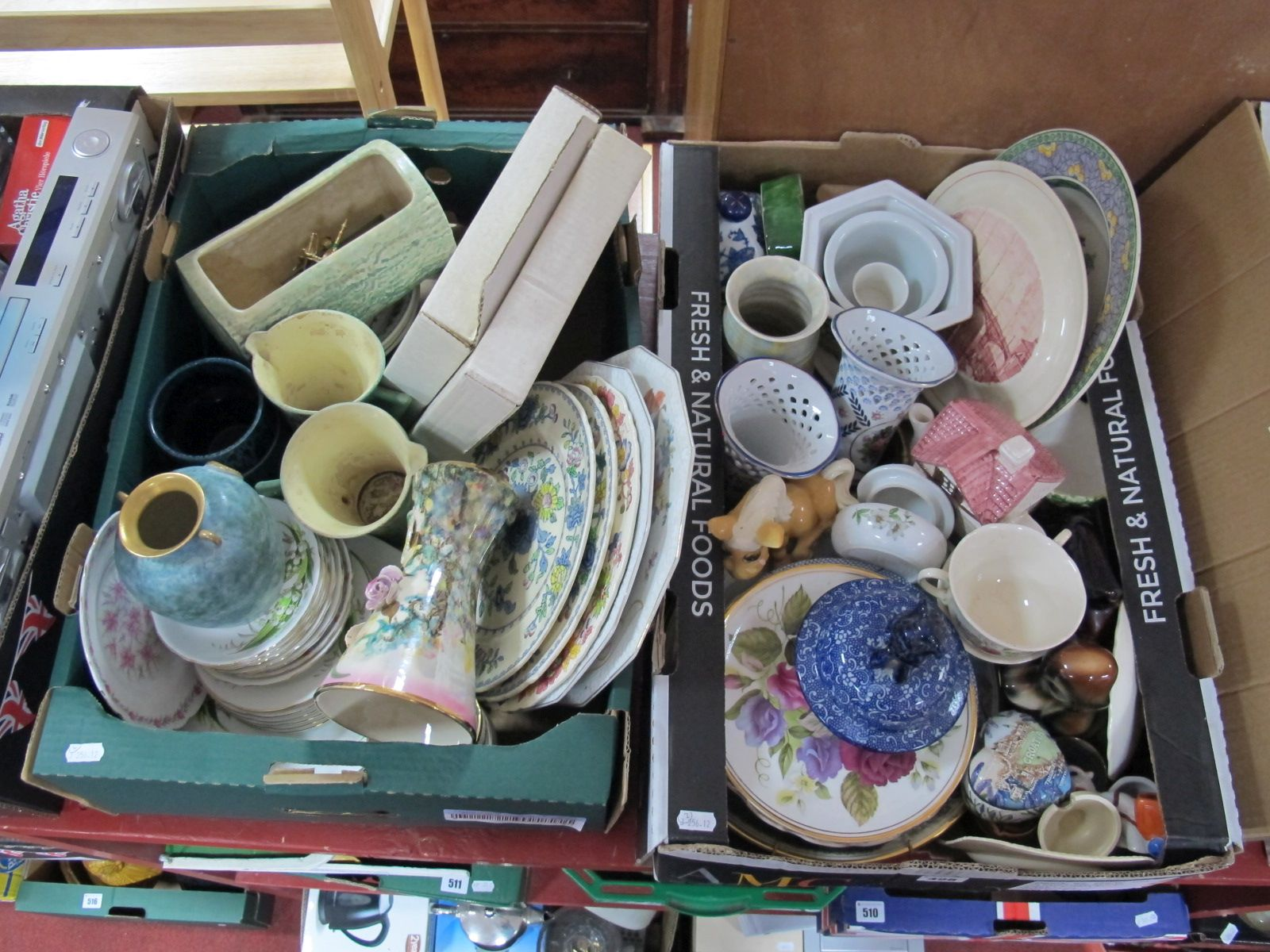 Lot 498 - Mason's Ware Plates, Adderley Ware saucers and plates, Royal Doulton cabinet plates, etc.