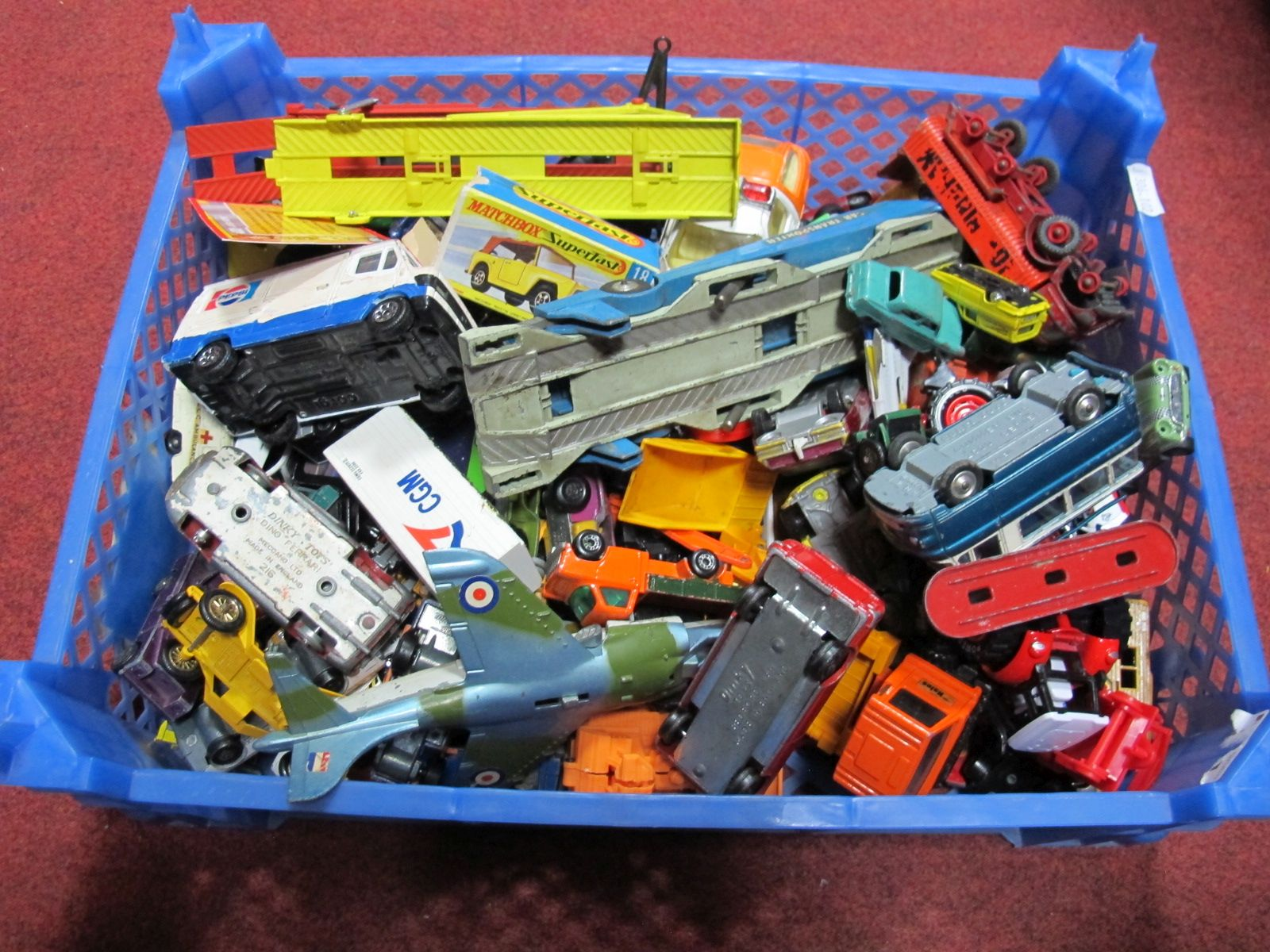 Lot 468 - A Quantity of Diecast Vehicles by Dinky, Corgi and Others, playworn.