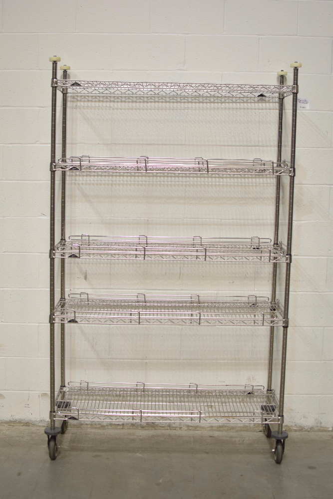 Lot 55 - 4' Portable Stainless Steel Metro Rack