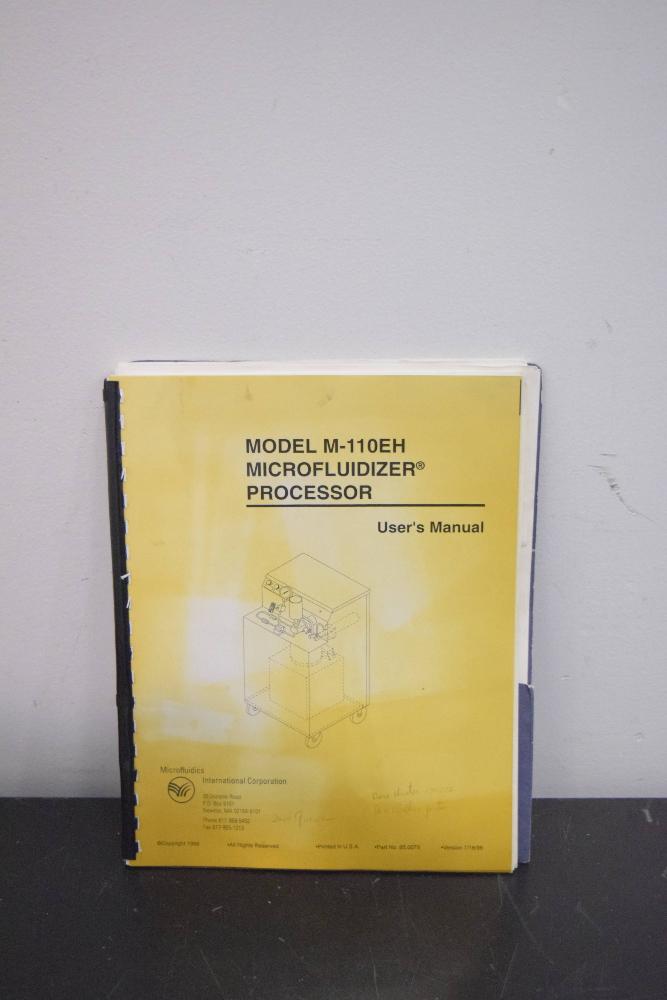Lot 44 - Microfluidics 110EH Microfluidizer