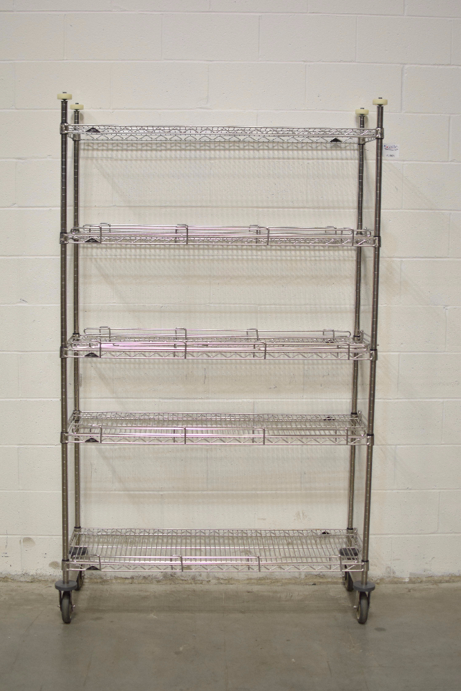 Lot 52 - 4' Portable Stainless Steel Metro Rack