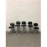 Lot of (5) Bio Fit Adjustable Height Lab Chairs
