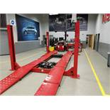 Hunter L421-14K 14,000 Lb. 4-Post Surface Alignment-Rack Lift s/n DS5796 (Open Front / Ramp ...