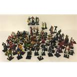 A large collection of 70+ diecast metal, Marvel Comic character figures.