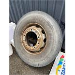 1 X USED TYRES WITH RIM TO SUIT TRACTOR UNIT