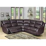 Brand New Boxed Supreme Brown Leather Reclining Corner Sofa