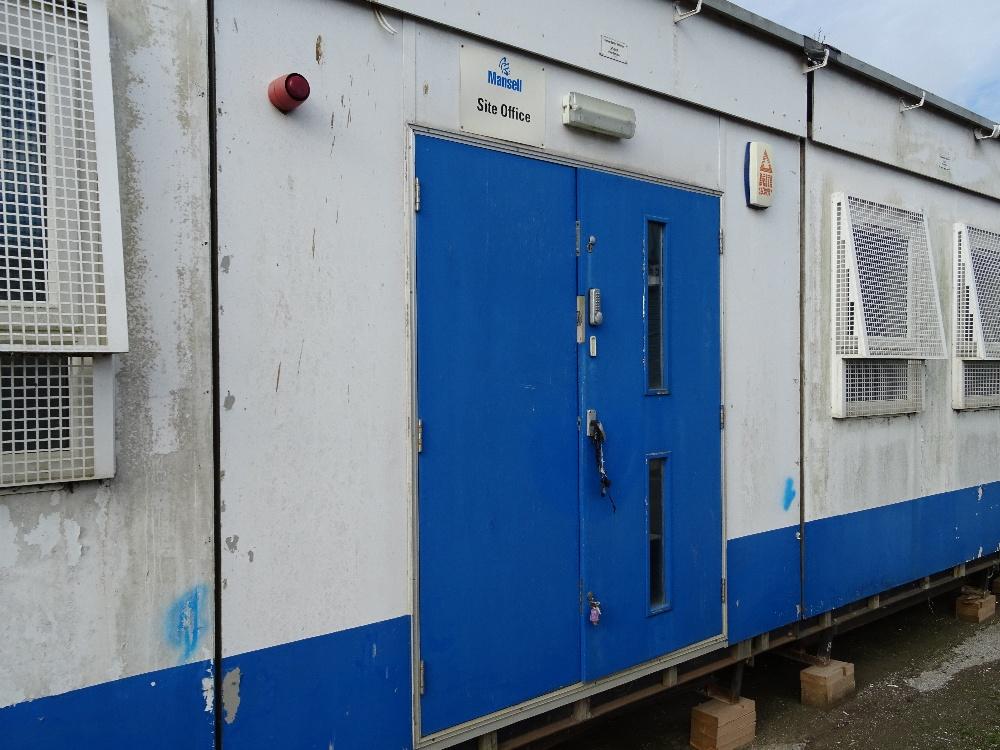 Modular Classroom Security ~ Bay plastisol single storey modular classroom building