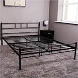 Boxed Double Metal Bed In Black Powder Coating RRP £100 (18364) IMAGES ARE FOR ILLUSTRATION PURPOSES