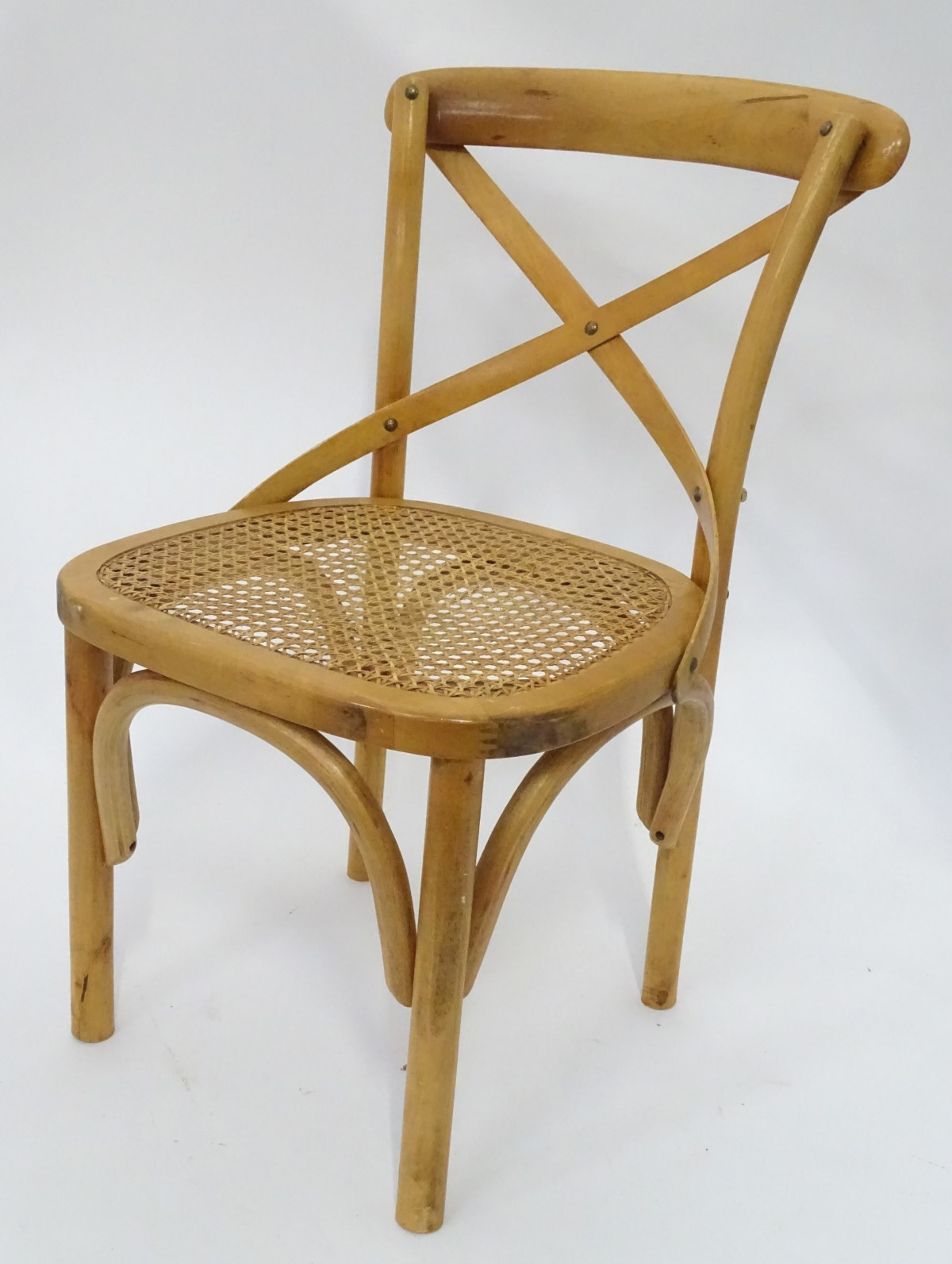 Lot 34 - A rush seated chair CONDITION: Please Note - we do not make reference to the