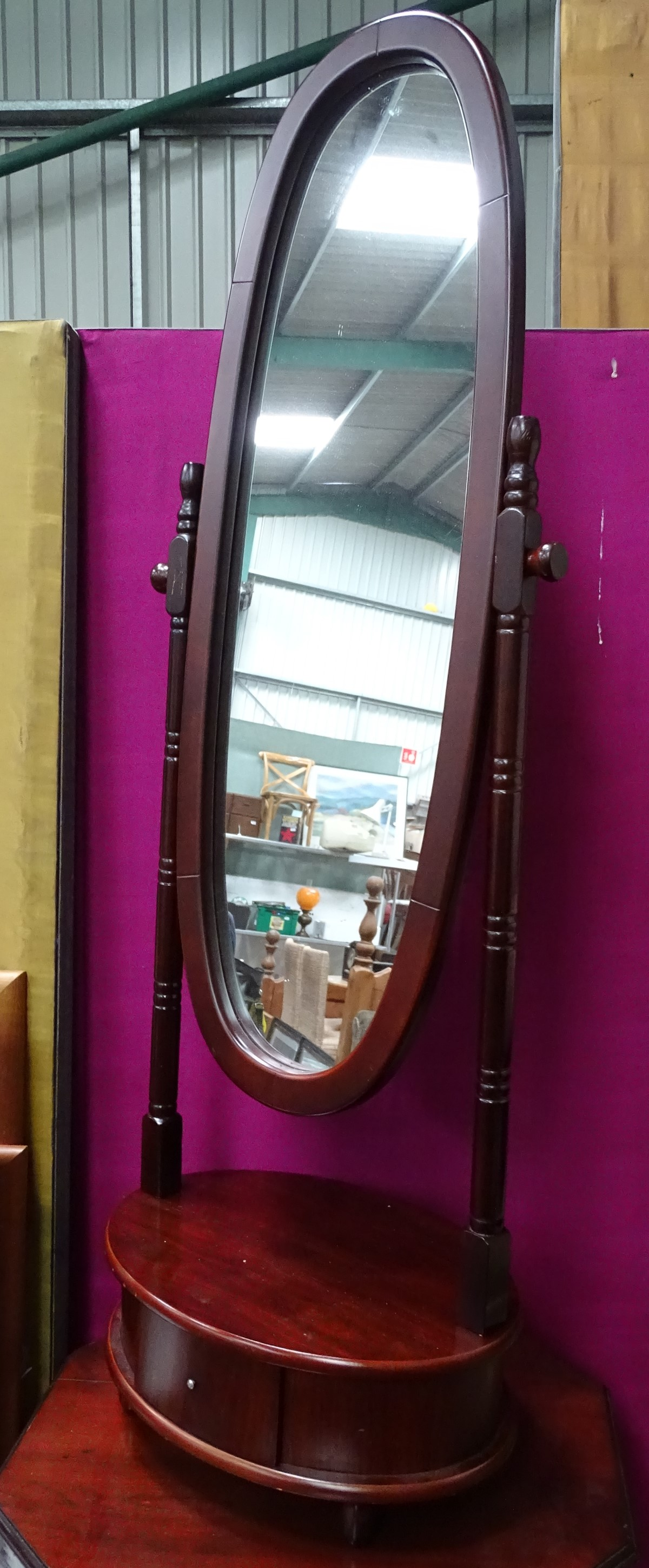 Lot 55 - A modern cheval mirror CONDITION: Please Note - we do not make reference to the