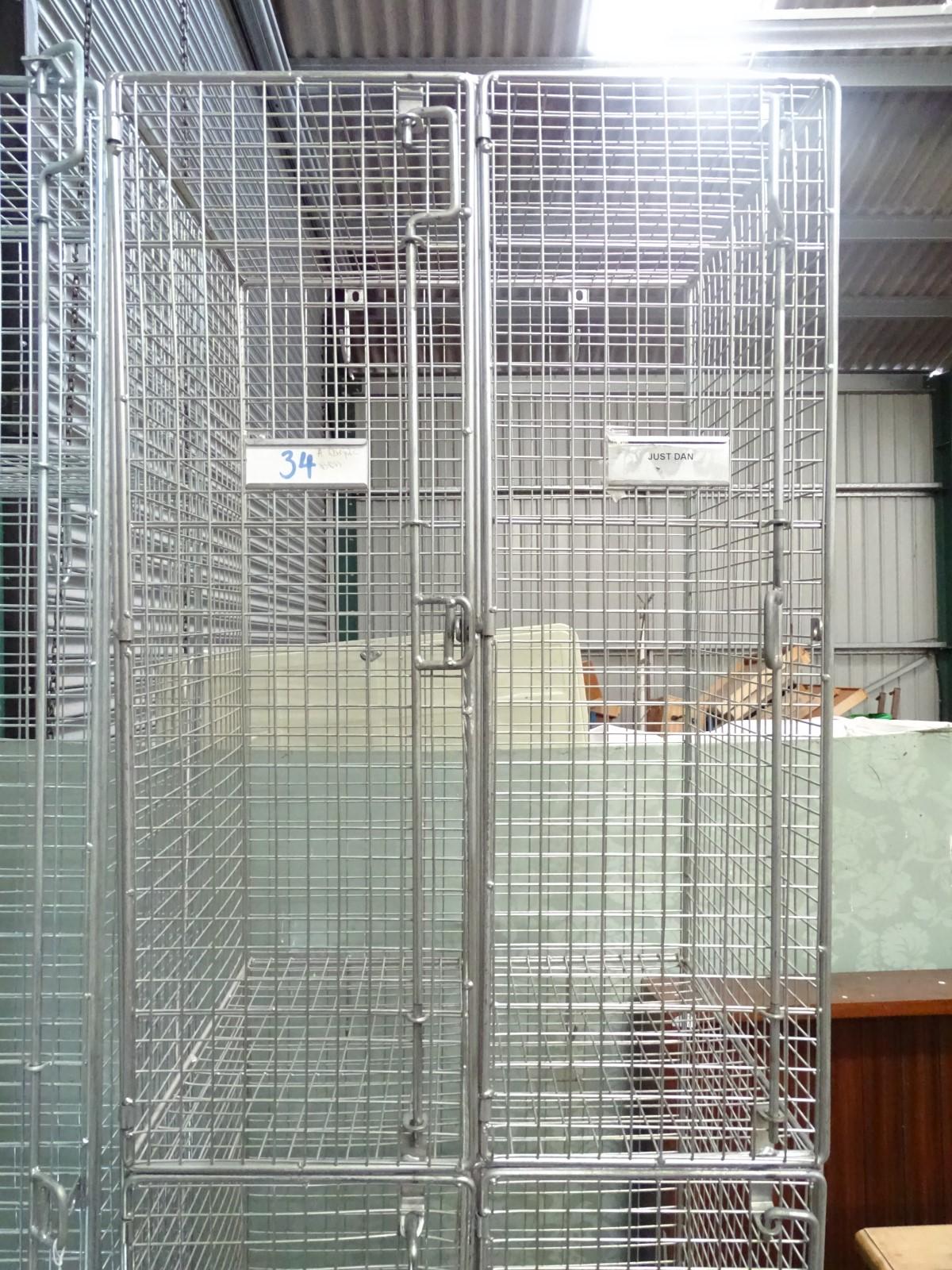 Lot 2 - An old school weld mesh locker (4 doors) CONDITION: Please Note - we do not make