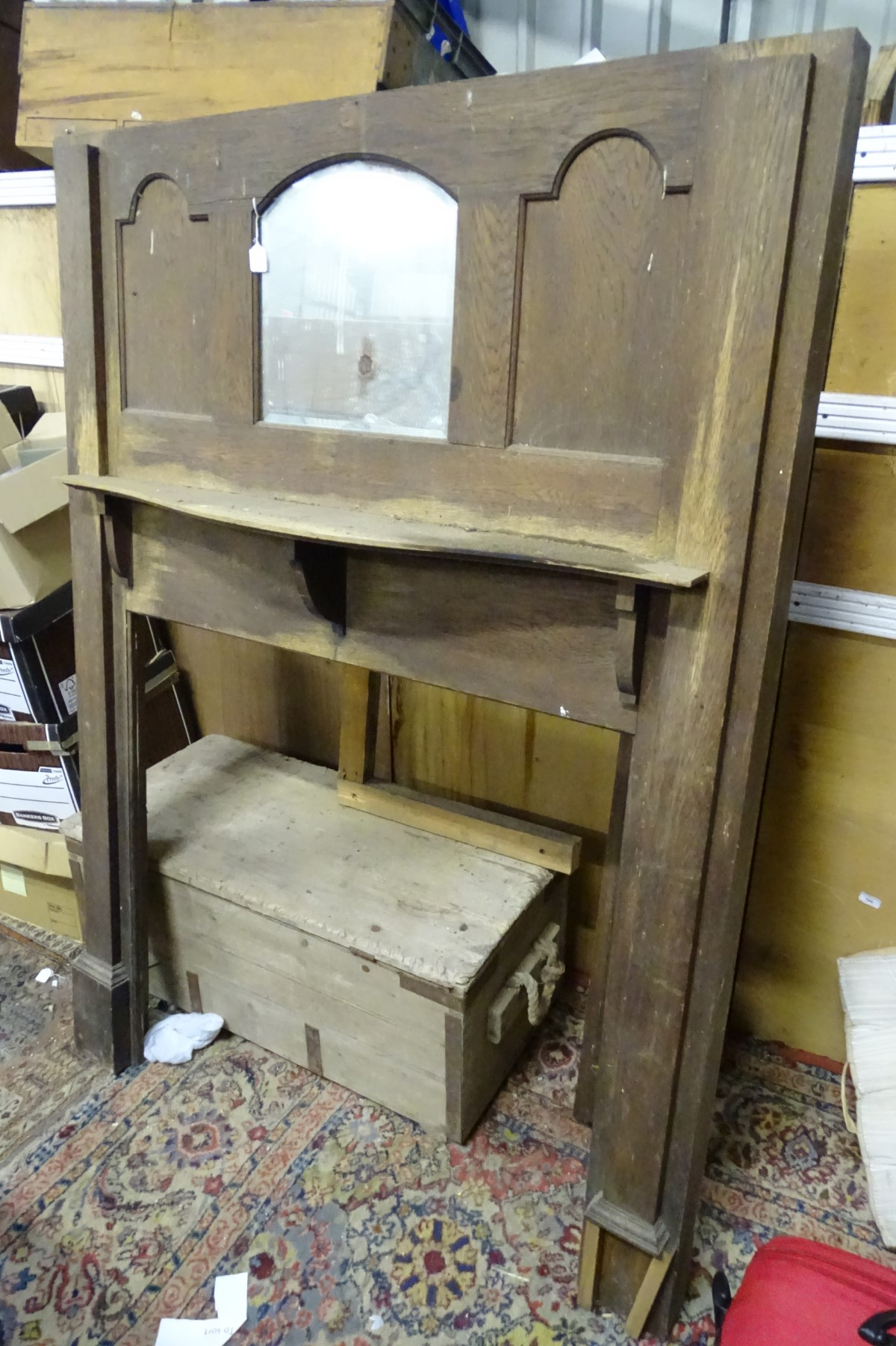 Lot 52 - An Edwardian Fire surround CONDITION: Please Note - we do not make reference to the