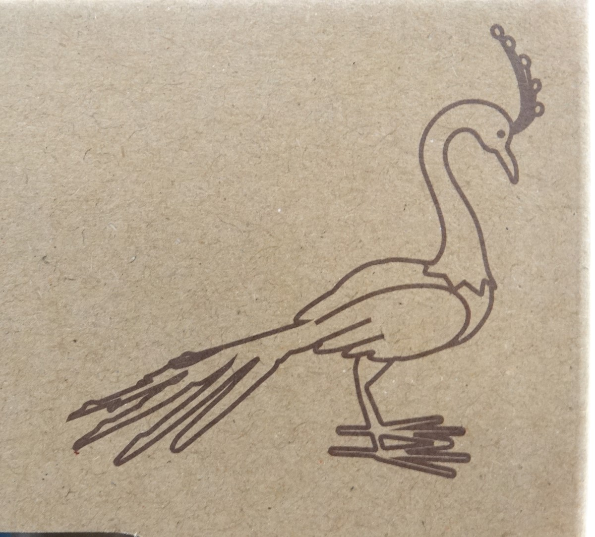 Lot 37 - A Kratif Kraft hand painted metal 'Peacock' (tail down) garden ornament,