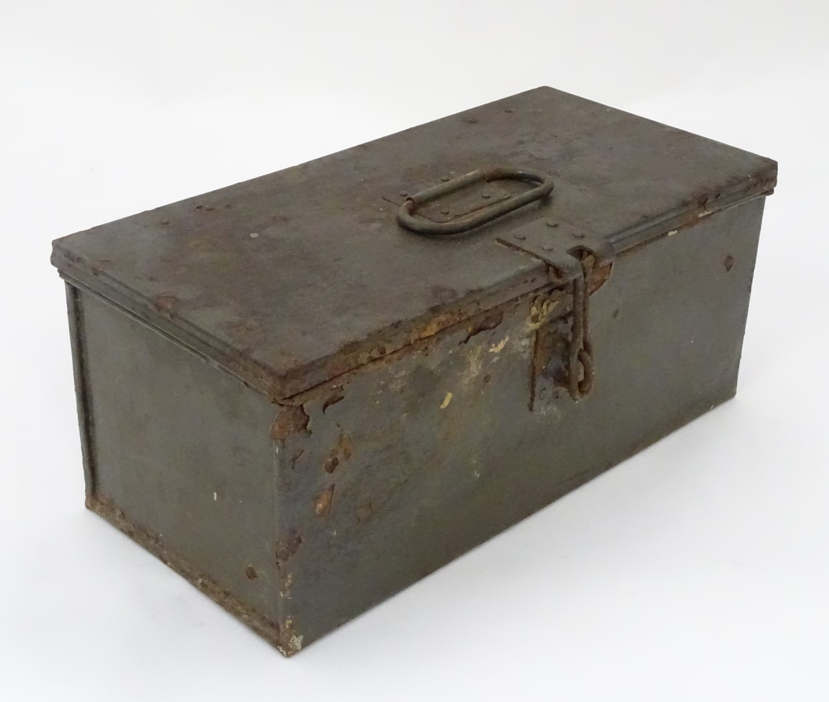 Lot 17 - A military document box CONDITION: Please Note - we do not make reference to the