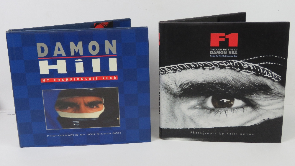 Lot 47 - Books; 'F1 through the eyes of Damon Hill' with photographs by Keith Sutton,