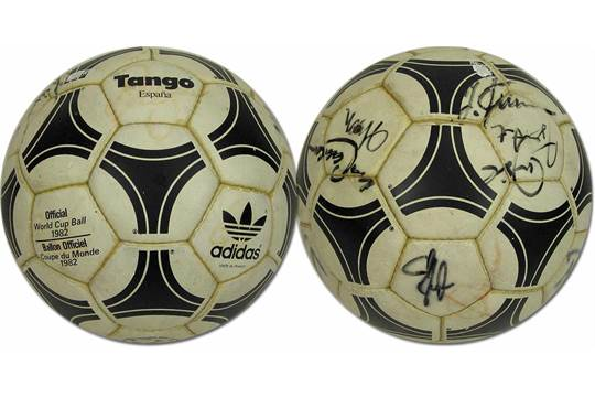 great prices closer at classic World Cup 1982 Adidas Ball with German Autographs - Adidas ...