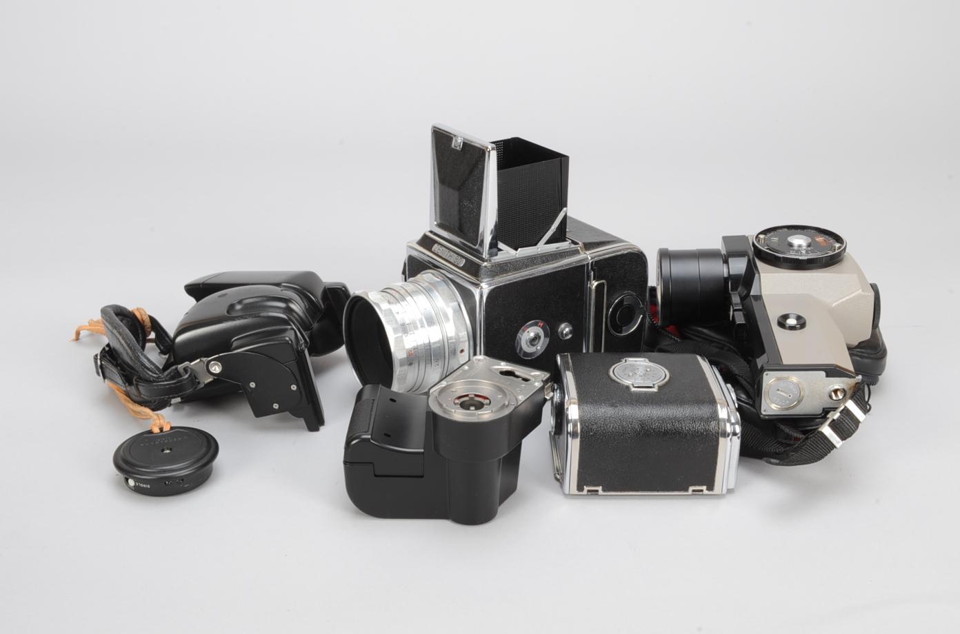 Lot 11 - A Zenith 80 Roll Film SLR Camera, shutter not firing, with an Industar-29 80mm f/2.8 lens, waist-
