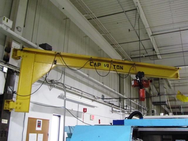 Motorized Wall Mounted Jib Crane : Ton wall mounted jib crane with electric hoist