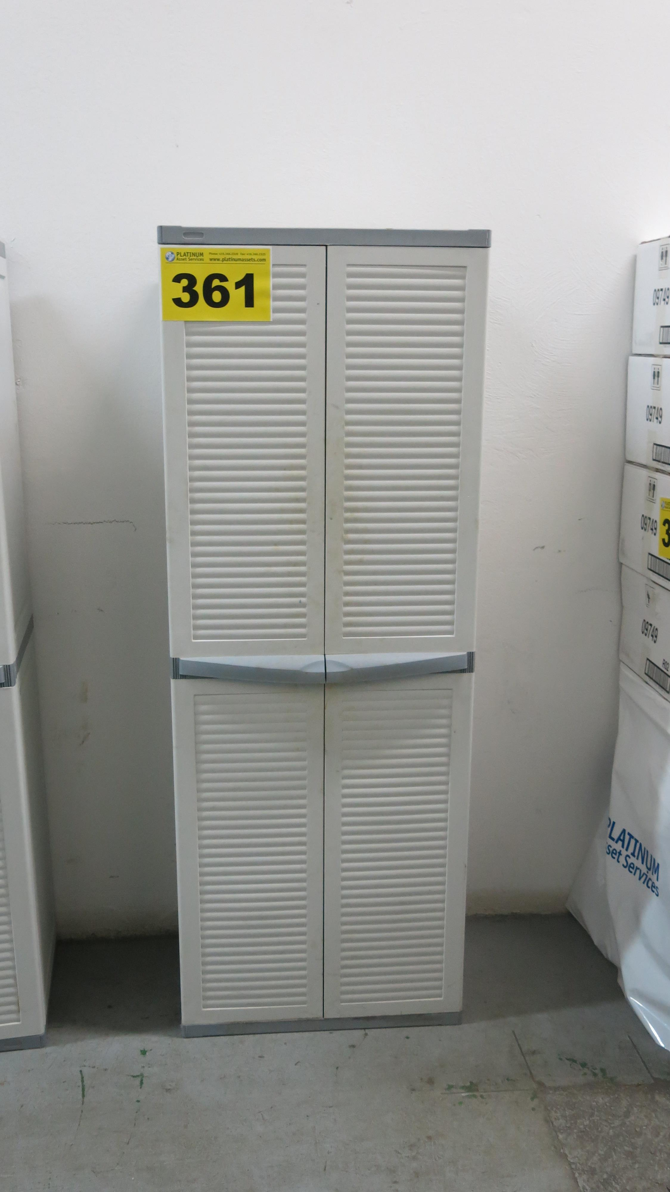 Lot 361 - TWO-DRAWER, PLASTIC CABINET