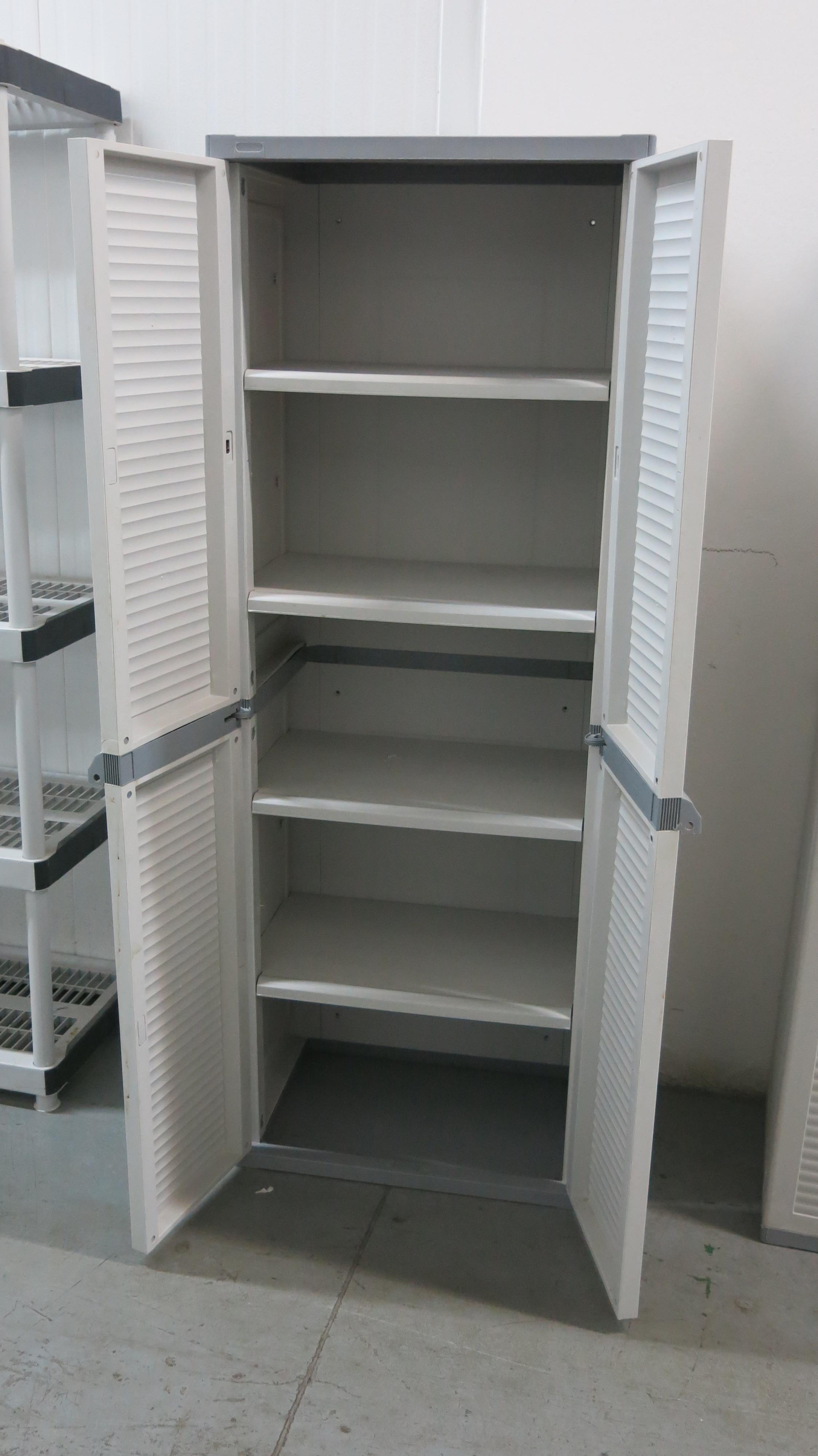 Lot 362 - TWO-DRAWER, PLASTIC CABINET
