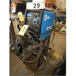 MILLER MILLERMATIC 140 AUTO SET 120V WIRE WELDER W/ CART & WIRE FEEDER, 1 PH, (24 GA-3/16 MILD