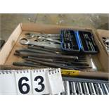 L/O PUNCHES & CHISELS, COMBINATION WRENCHES, SCREW DRIVERS, DRIVE ASSORTMENT KIT, ETC