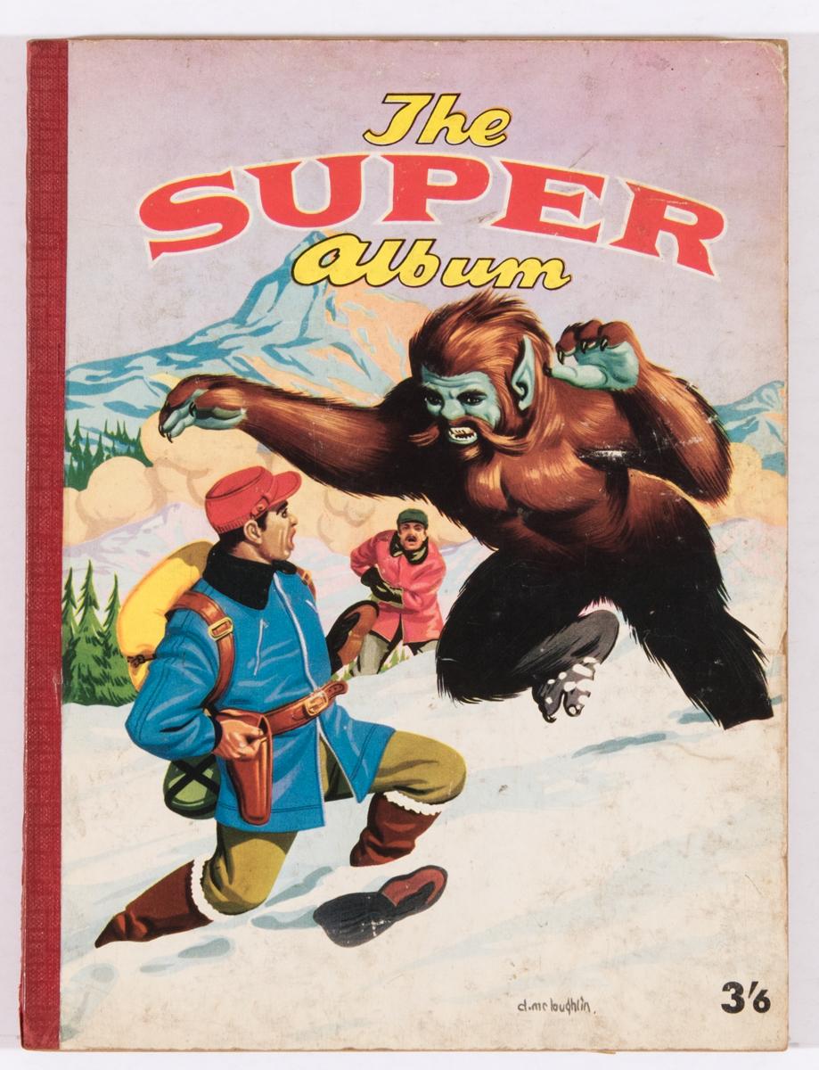 Lot 104 - The Super Album (1958 A Moring). Denis McLoughlin cover art with Blackhawk, Arizona Raines, Doll Man