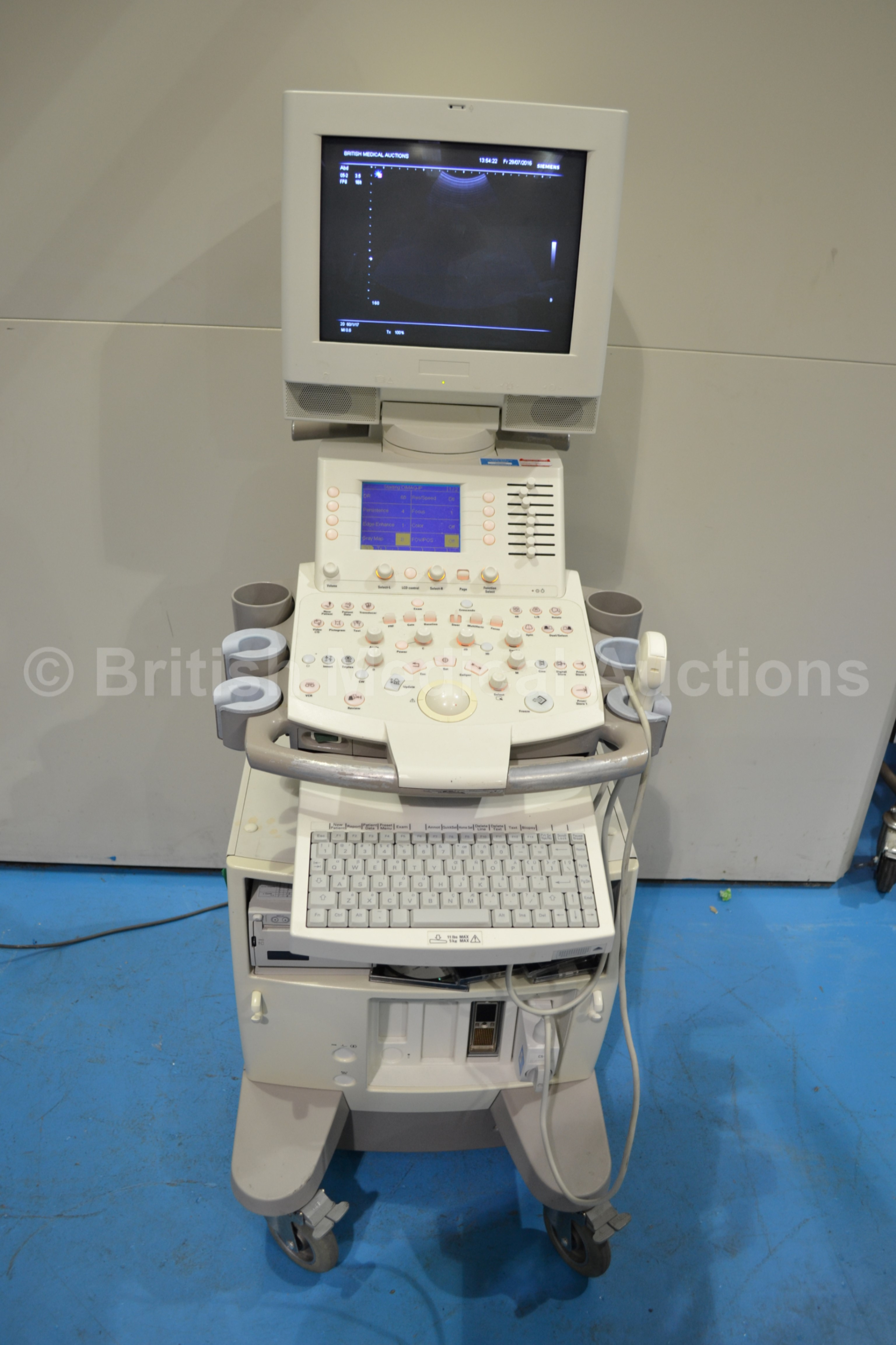 Lot 55 - Siemens Sonoline G50 Ultrasound System with One Tr