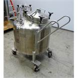 Lee Industries, 250 Liter SS Portable Pressure Mix Tank. Model 250 LDBT. Internal Rated 35 psi at 27